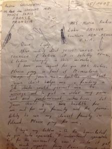 Letter Andrew Gruszewski
